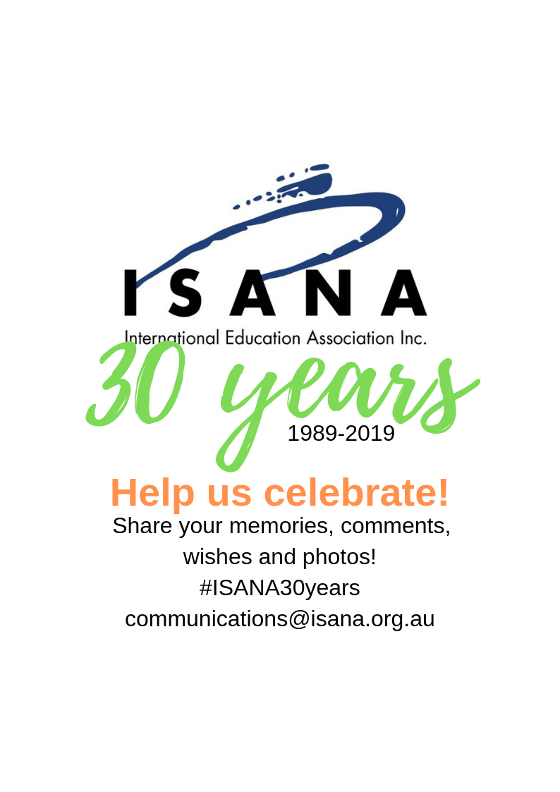 #ISANA30years Conference important dates